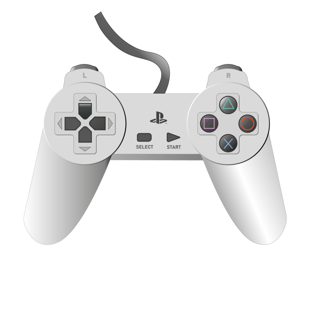 PlayStation controller made in Illustrator