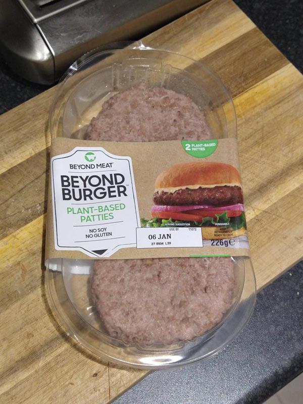 Beyond Burger plant-based patties