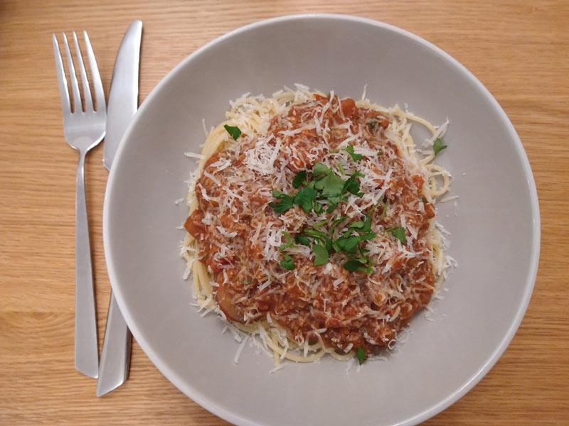Homemade Lentil Bolognese